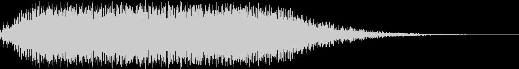 空間的なオープニング 場面転換 音の未再生の波形