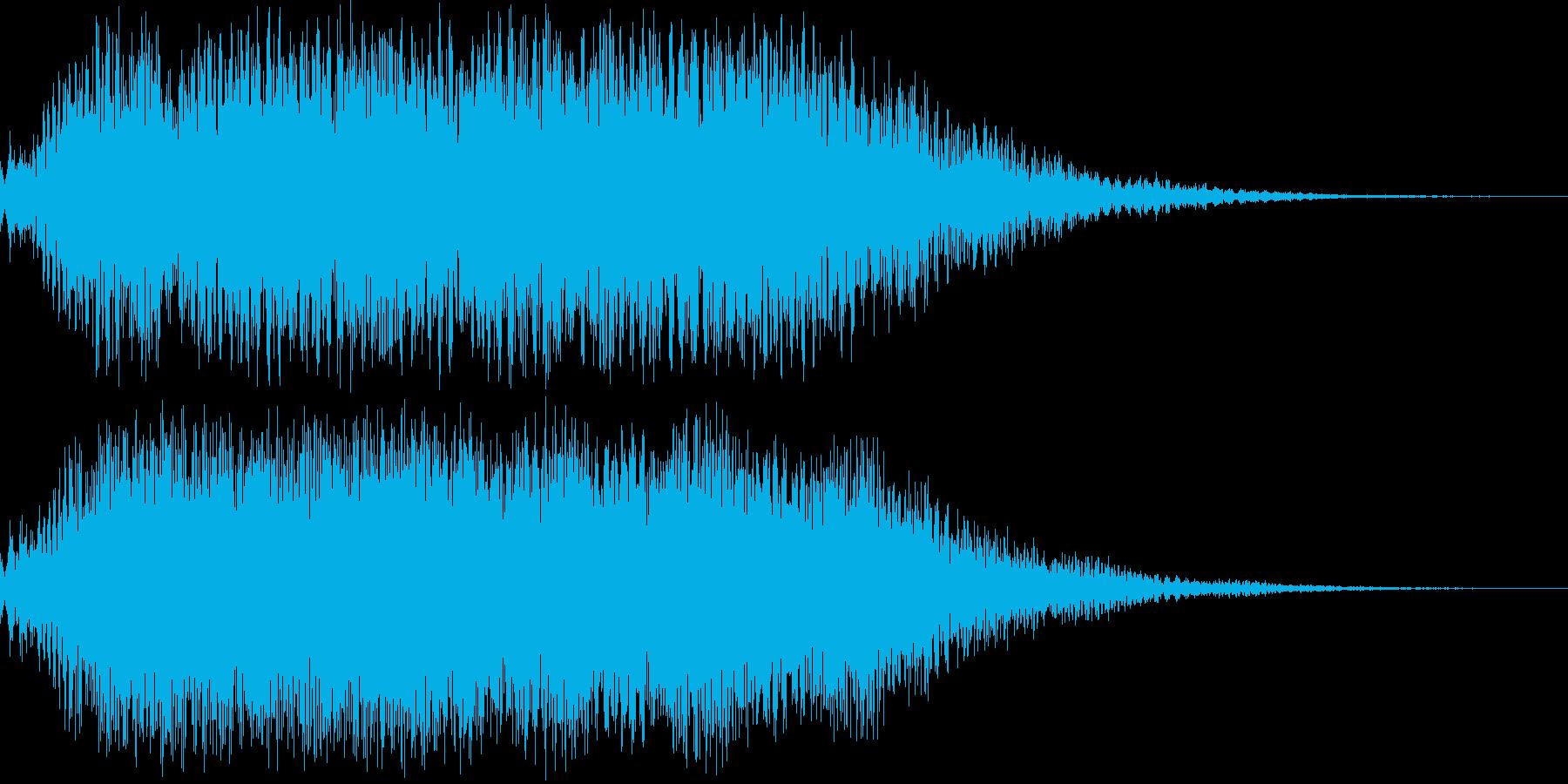 空間的なオープニング 場面転換 音の再生済みの波形