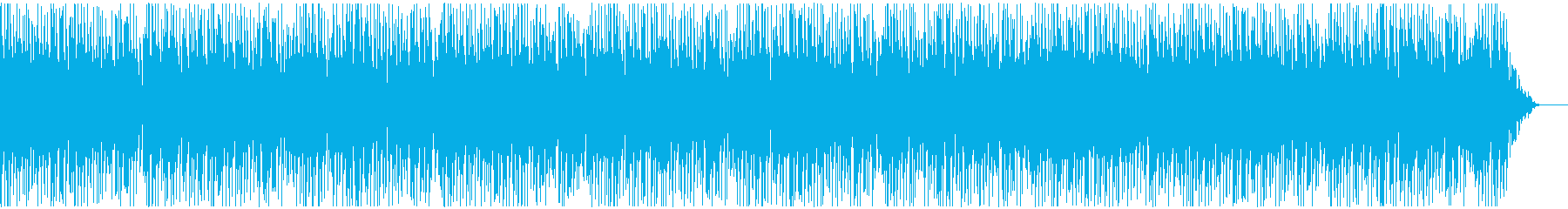 明るく暖かい緩やかなピアノの曲の再生済みの波形