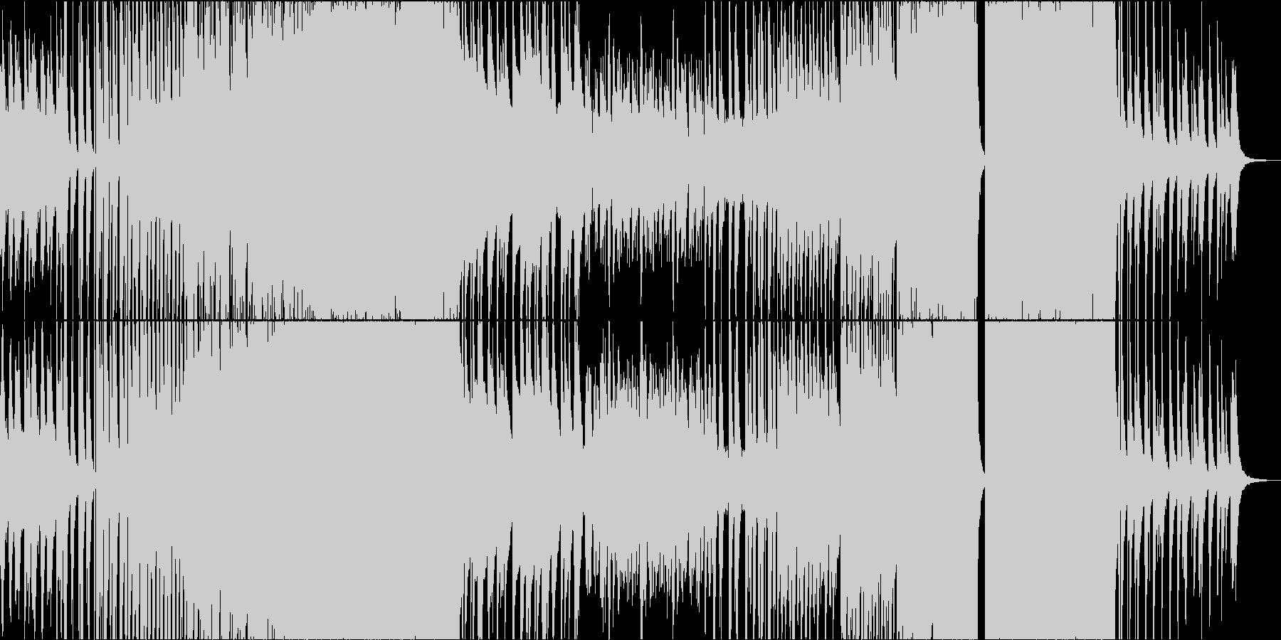 ピアノがサビで盛り上がるエンディング曲の未再生の波形