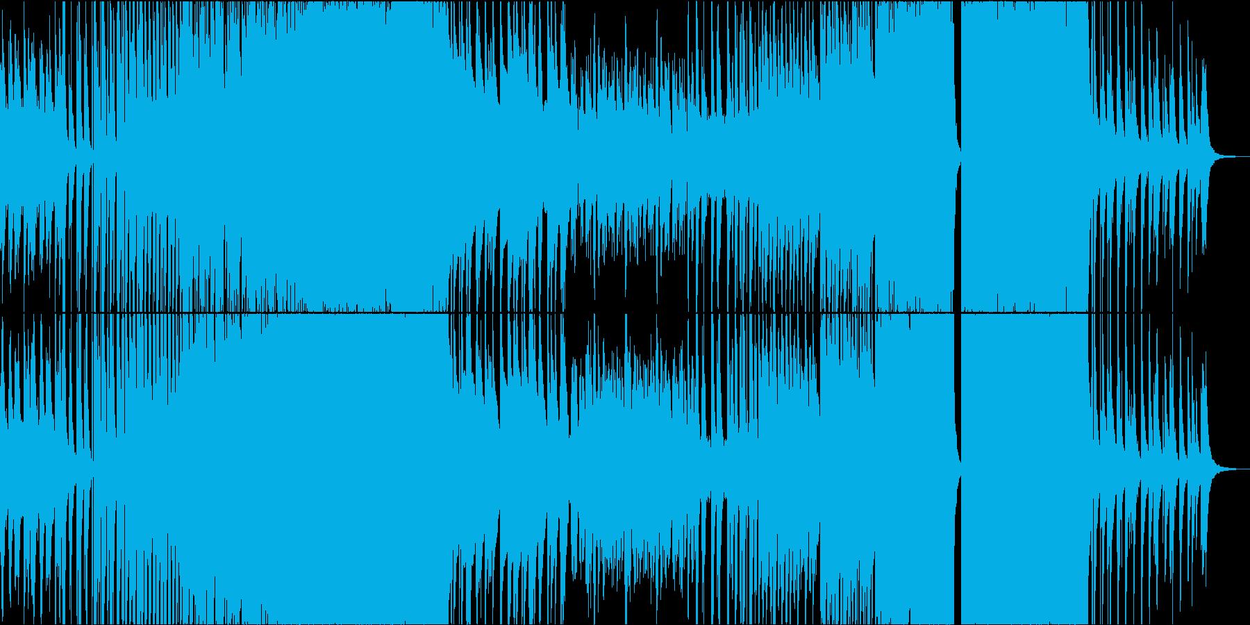 ピアノがサビで盛り上がるエンディング曲の再生済みの波形