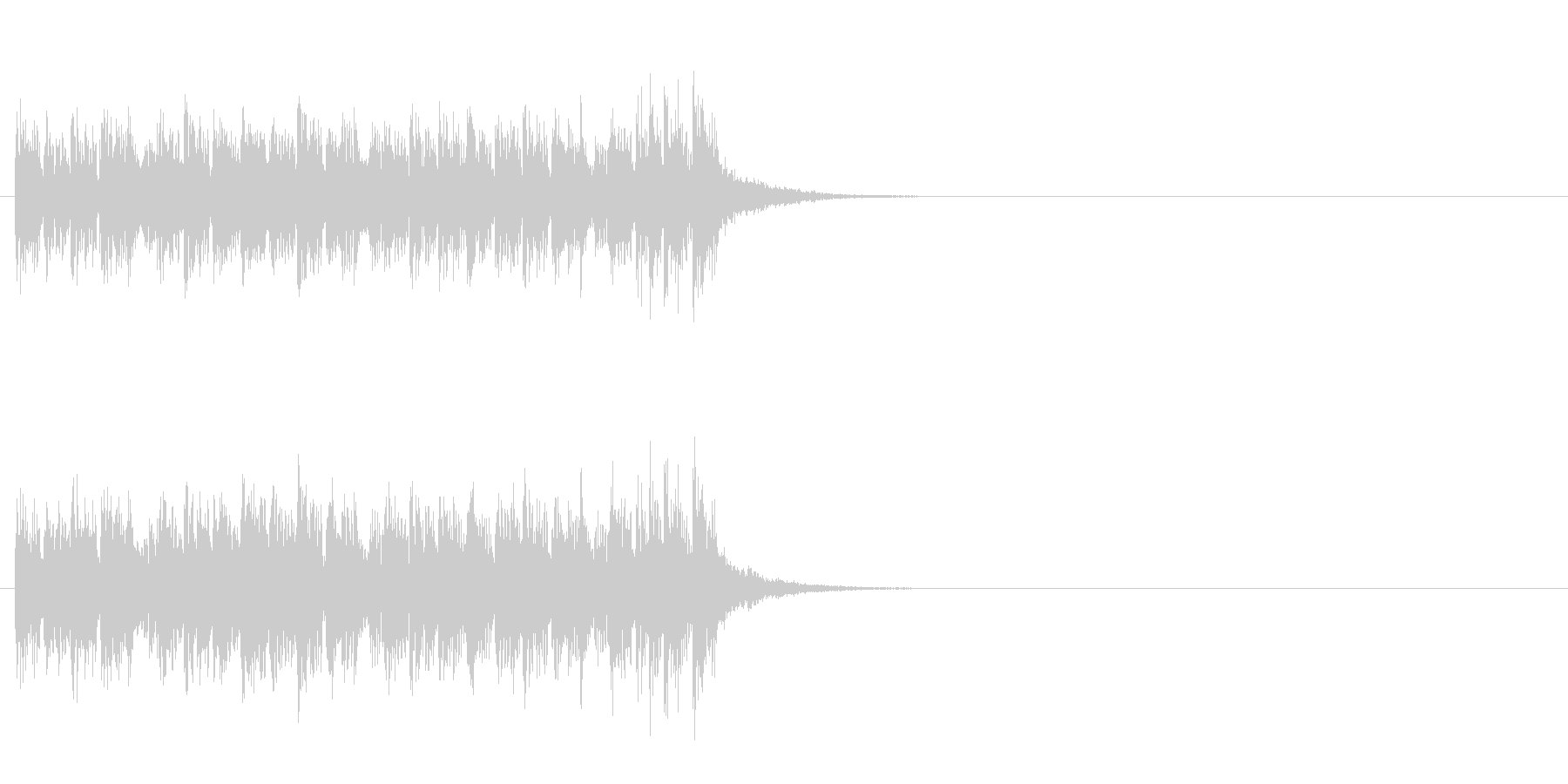 ジングル(追跡!マイナー・ダンス風)の未再生の波形