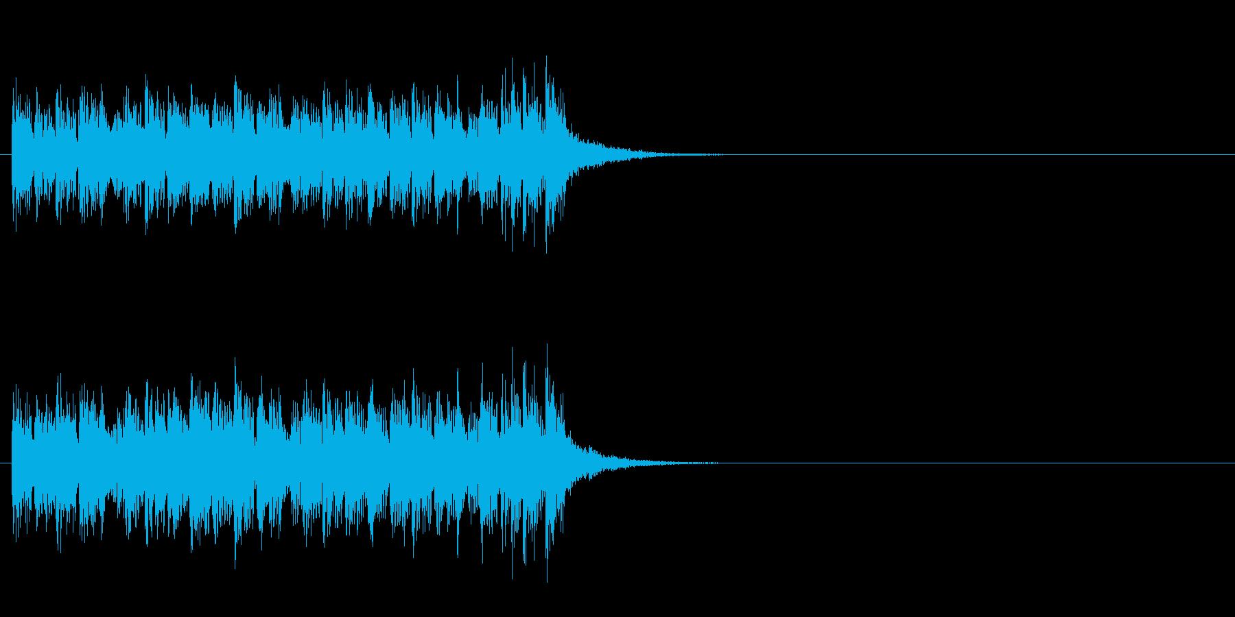 ジングル(追跡!マイナー・ダンス風)の再生済みの波形