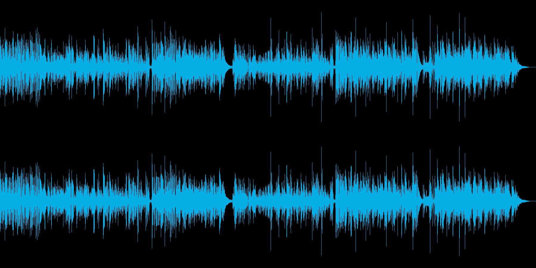 ジャズ風味のアコギインストの再生済みの波形