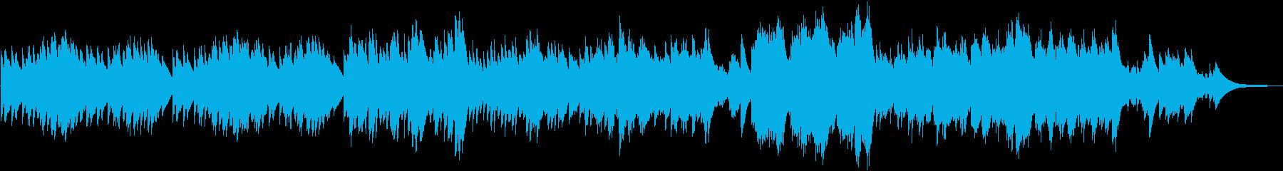 物悲しい雰囲気のオルゴール曲の再生済みの波形