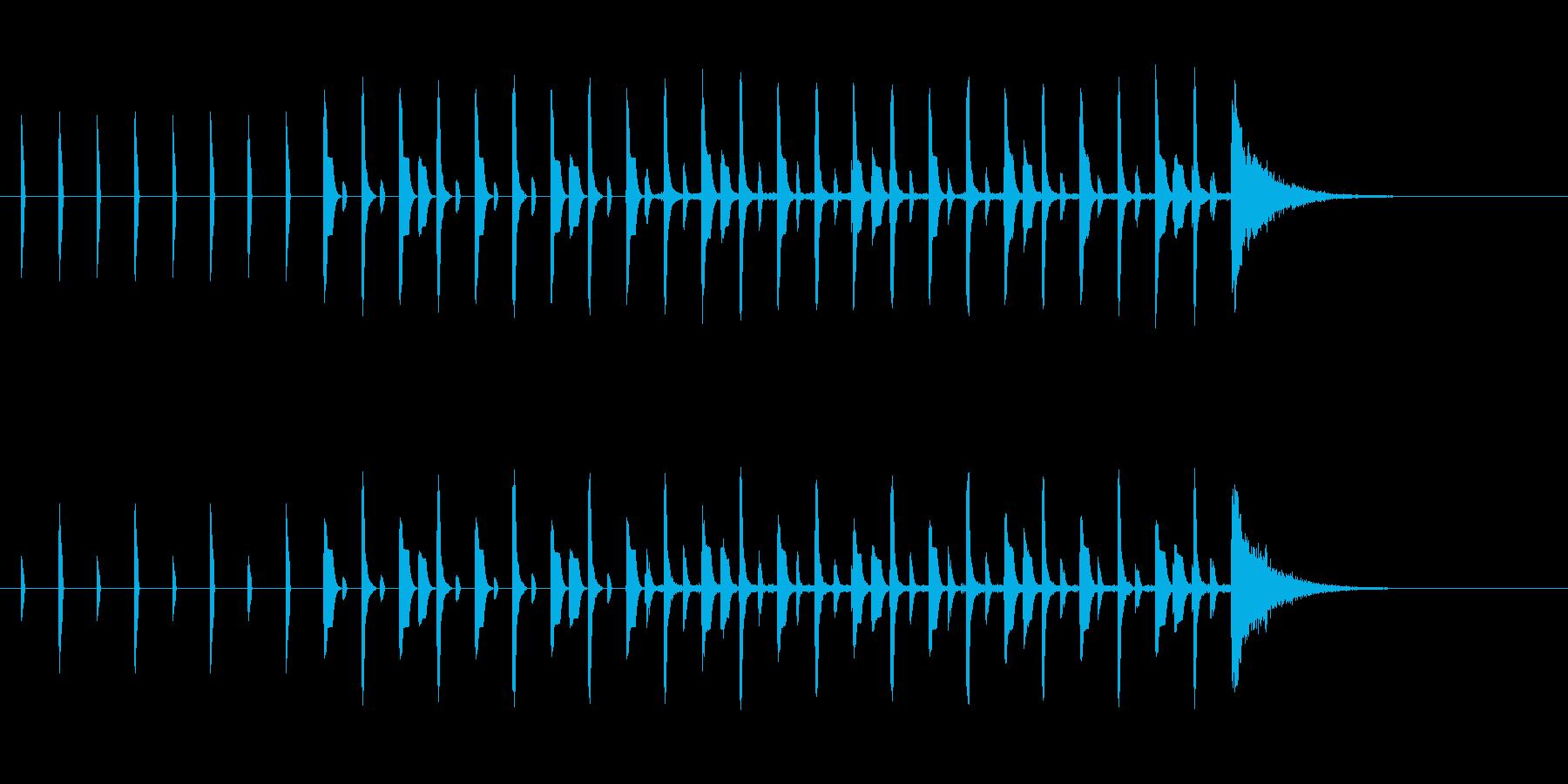 シンキングタイム15秒ピコピコサウンドの再生済みの波形