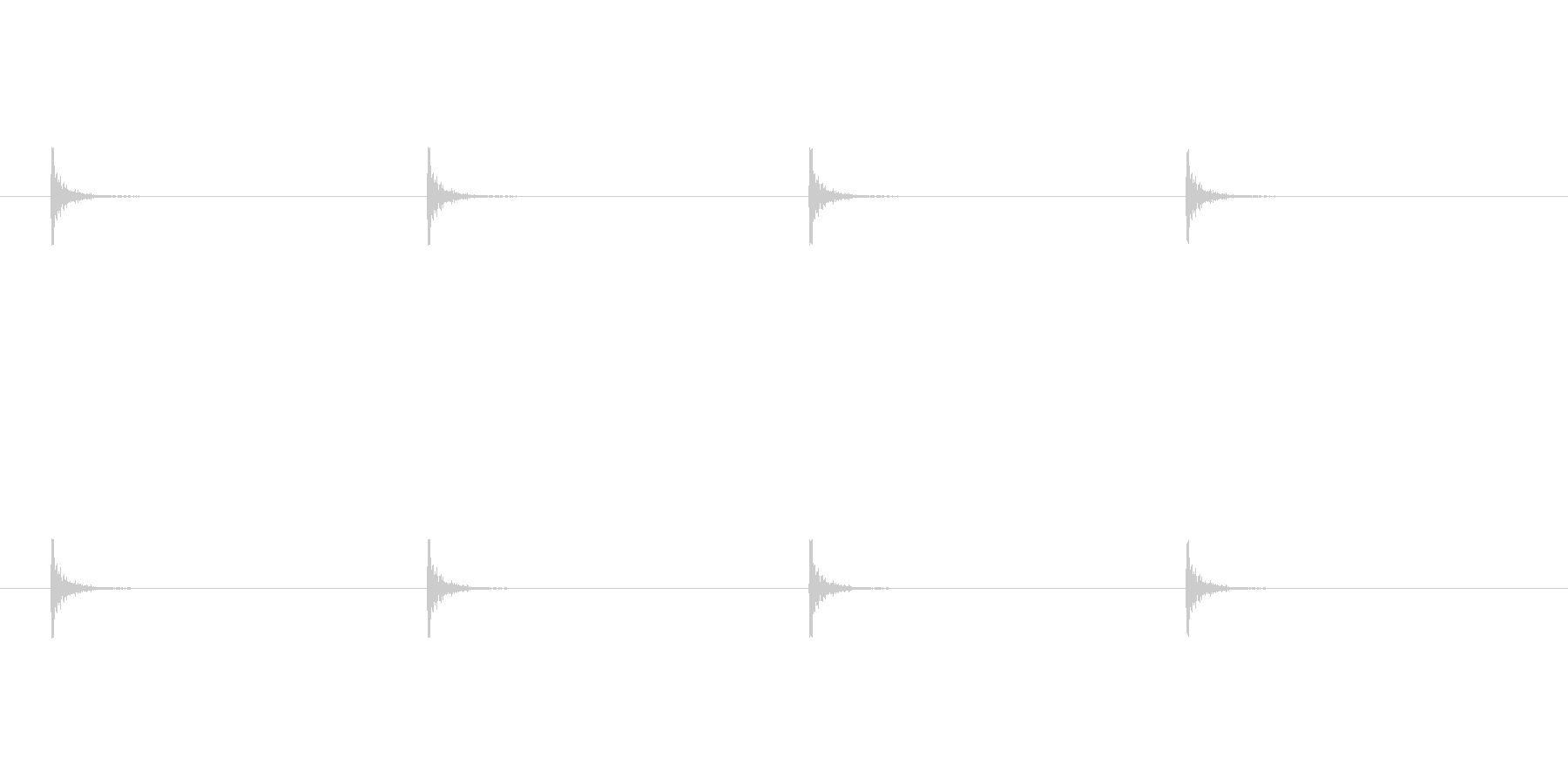 タッタッタッタッ(クイズなど考え中の音)の未再生の波形