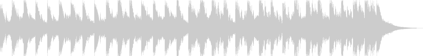 15秒のコミカルなジングルですの未再生の波形