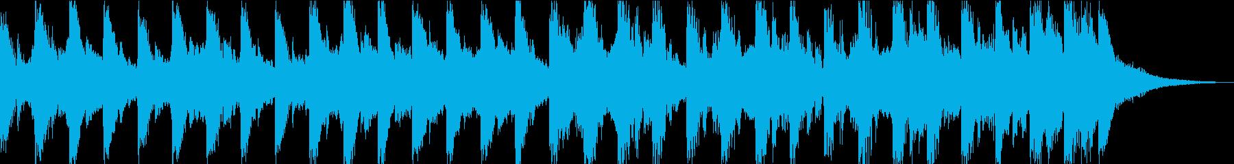 15秒のコミカルなジングルですの再生済みの波形