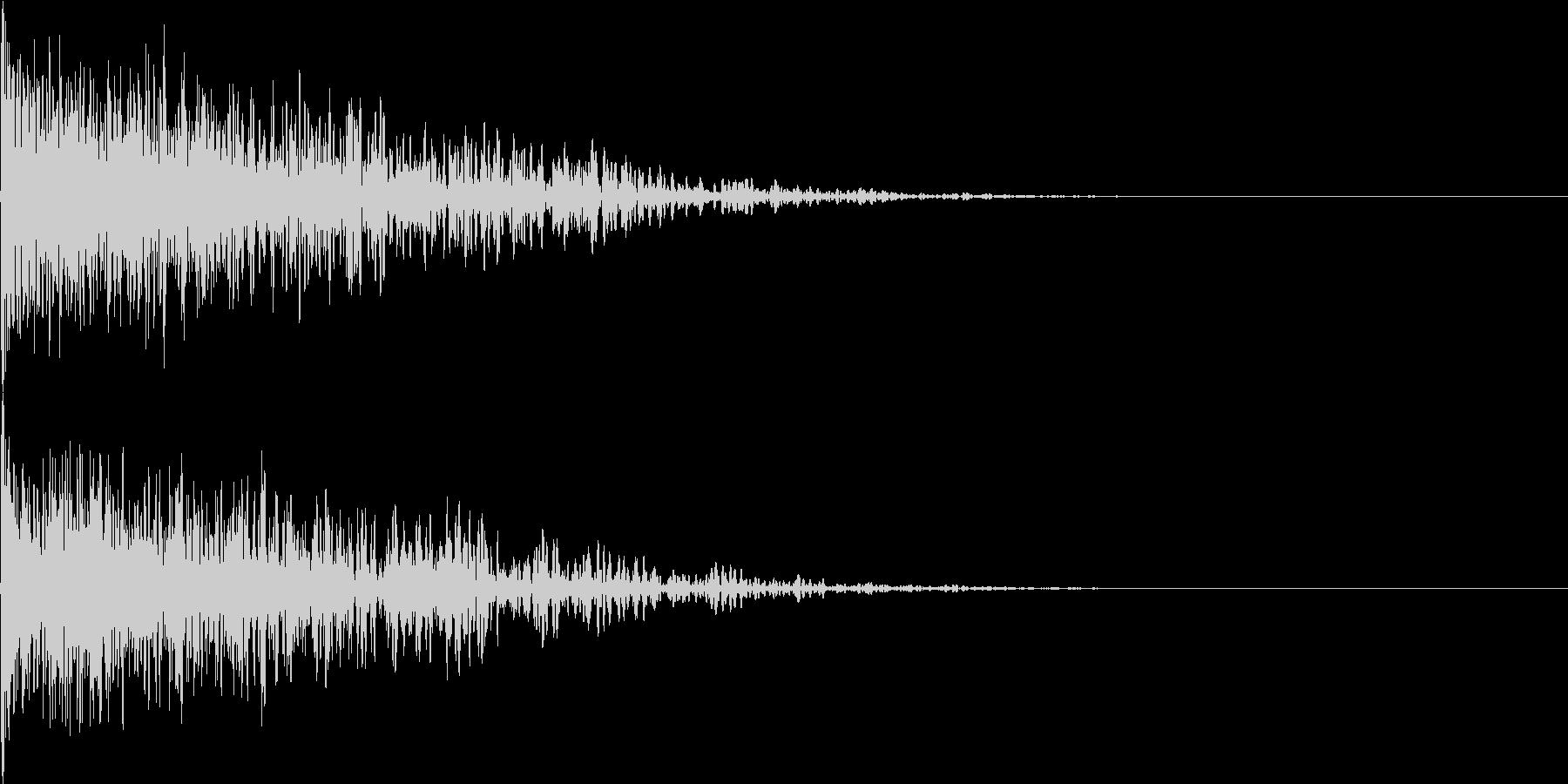 爆発音01の未再生の波形