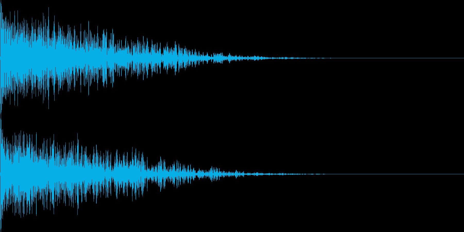 爆発音01の再生済みの波形