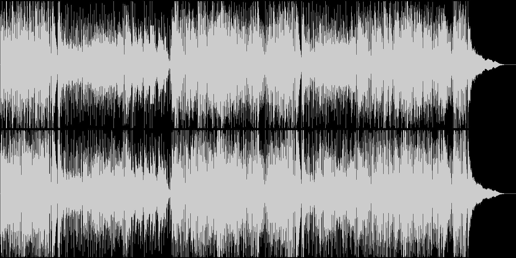 おしゃれ系ロックテイストのピアノの未再生の波形