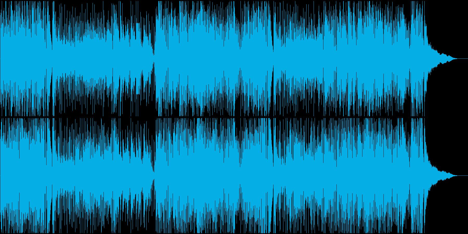 おしゃれ系ロックテイストのピアノの再生済みの波形