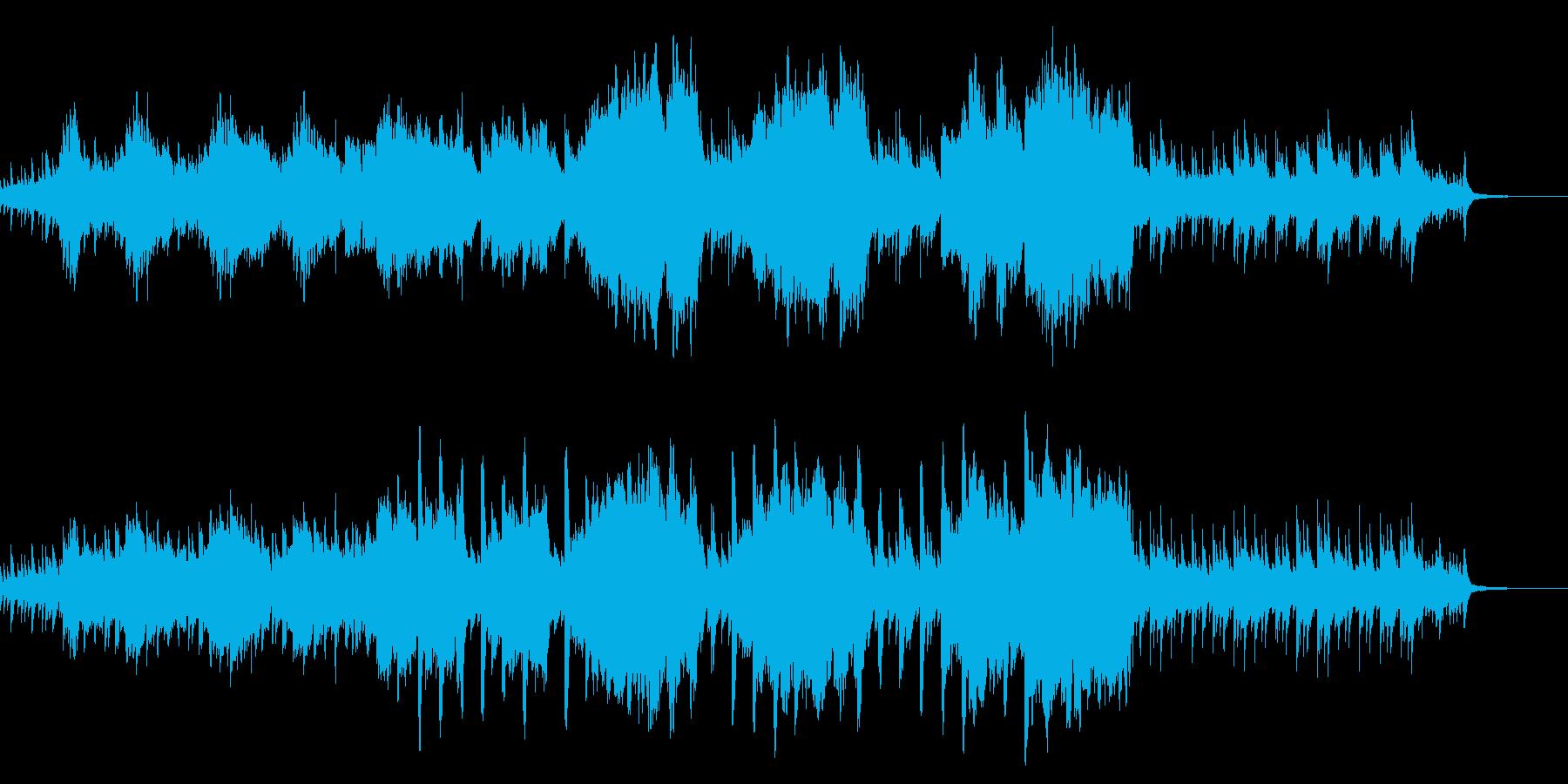 きれいな海や、深海を表したシンプルBGMの再生済みの波形