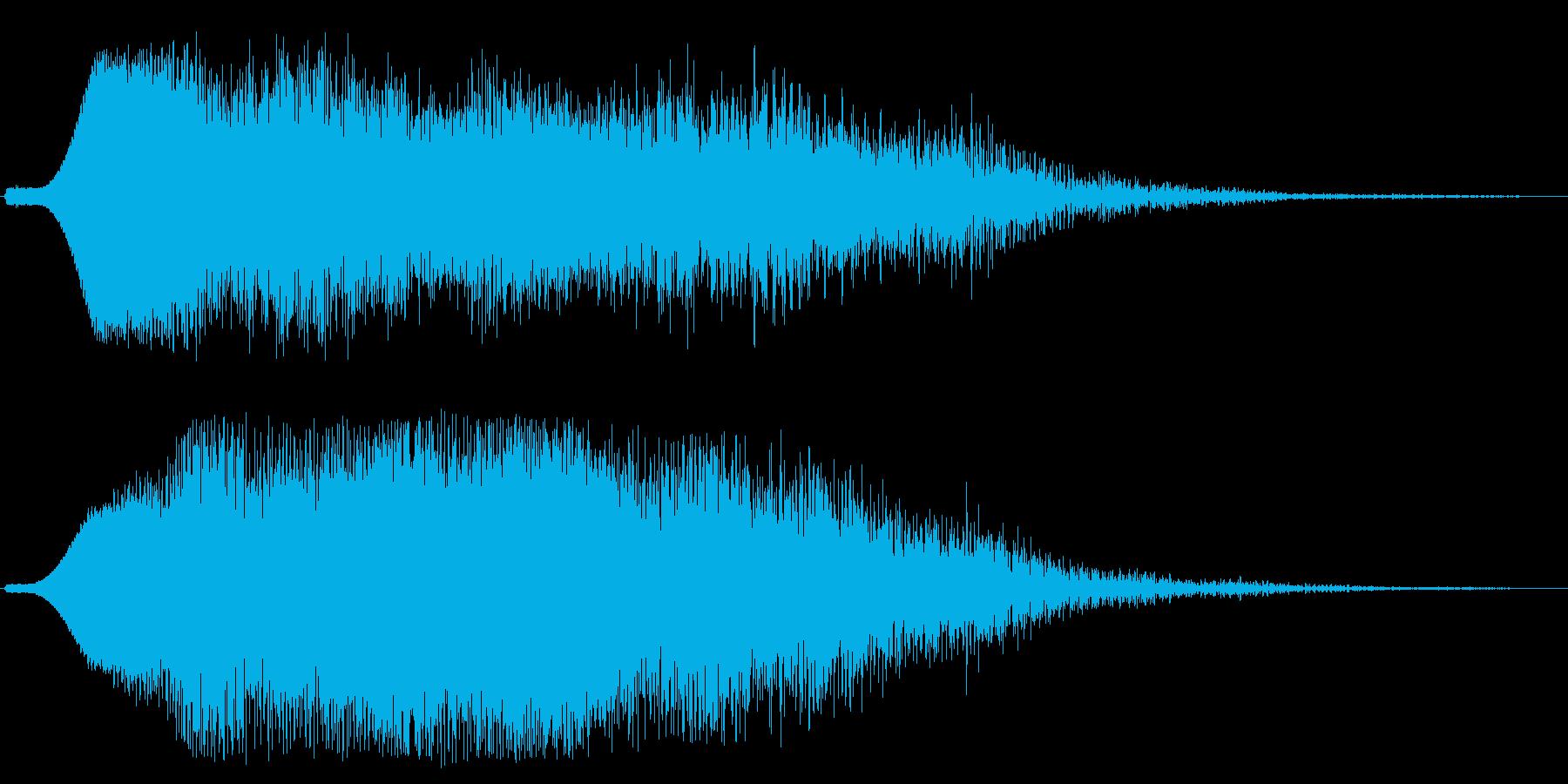 ファーンシューッ(広がり駆け抜けるSE)の再生済みの波形