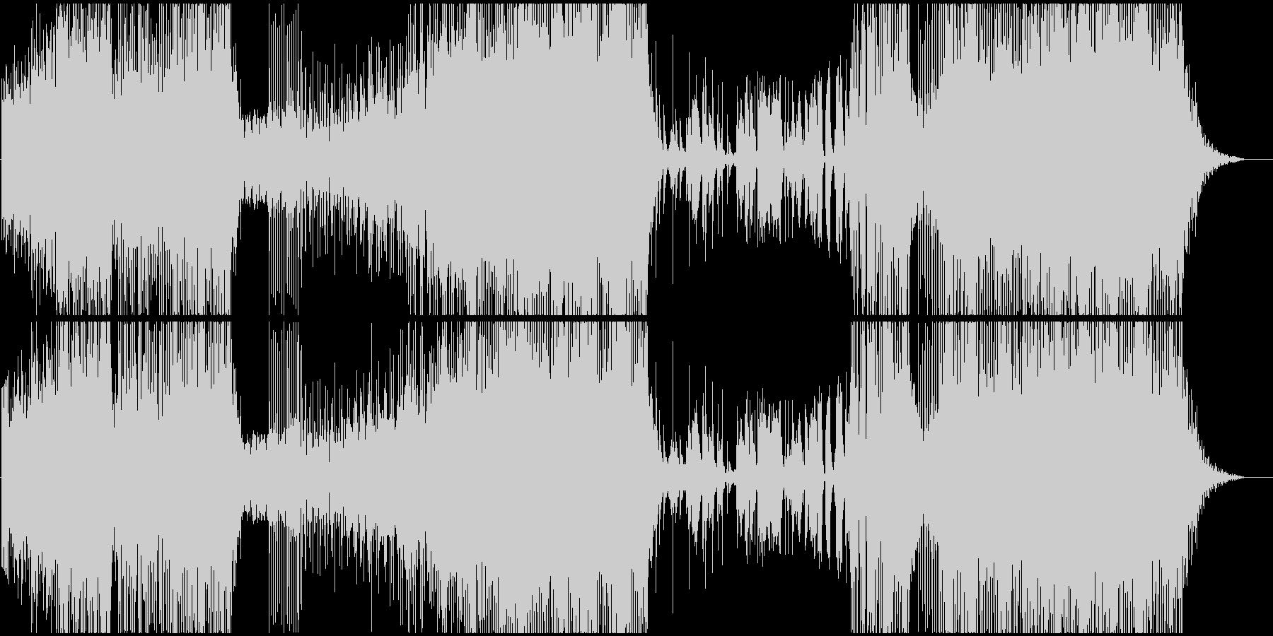 怒りと嵐をテーマにした変拍子ジャズロックの未再生の波形