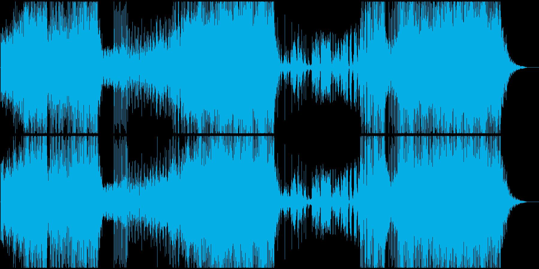怒りと嵐をテーマにした変拍子ジャズロックの再生済みの波形