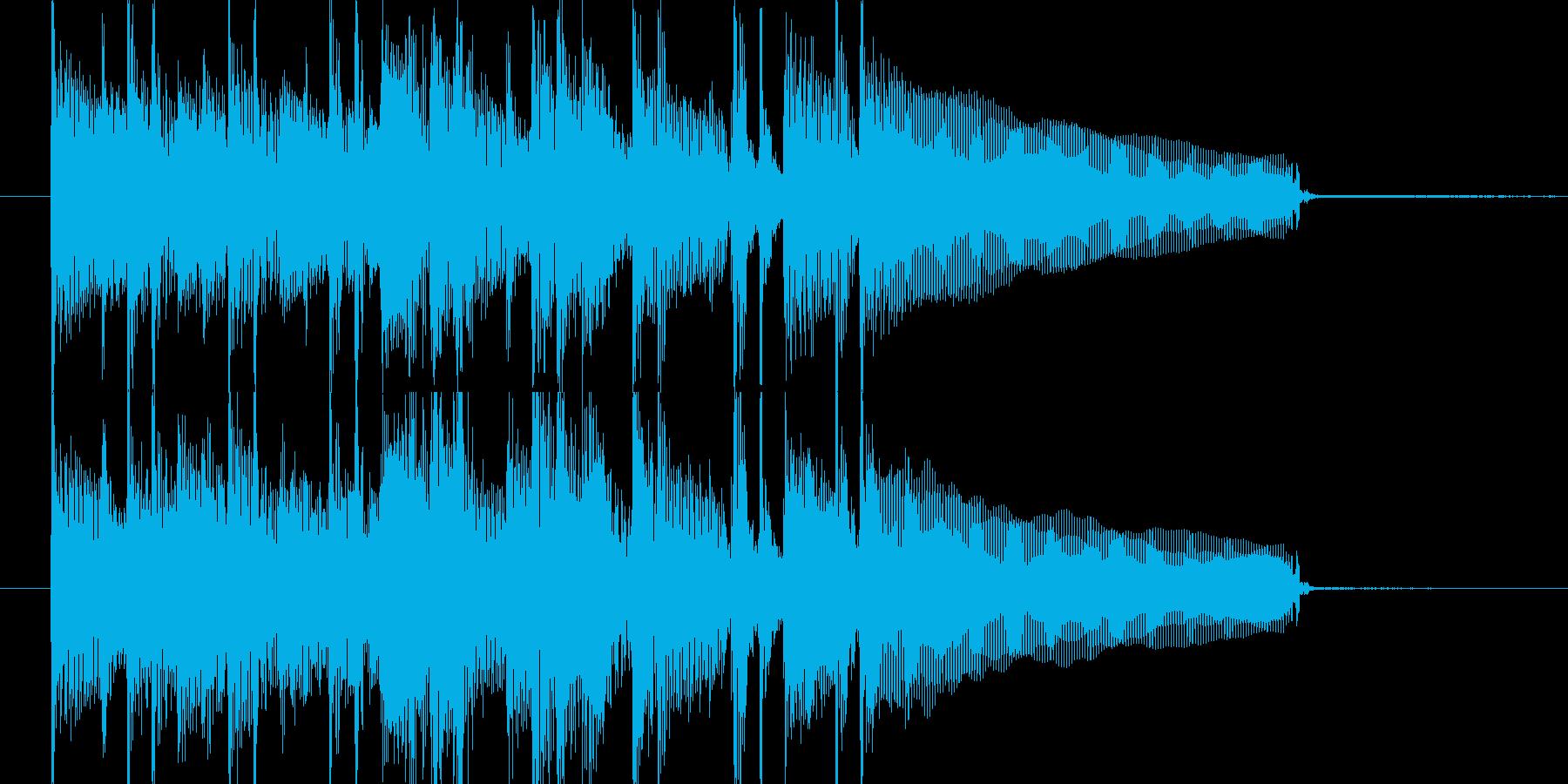 おしゃれなボサノヴァのジングルの再生済みの波形