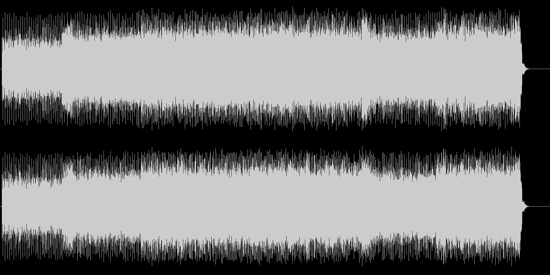 カーレースを連想させるスポーティなロックの未再生の波形