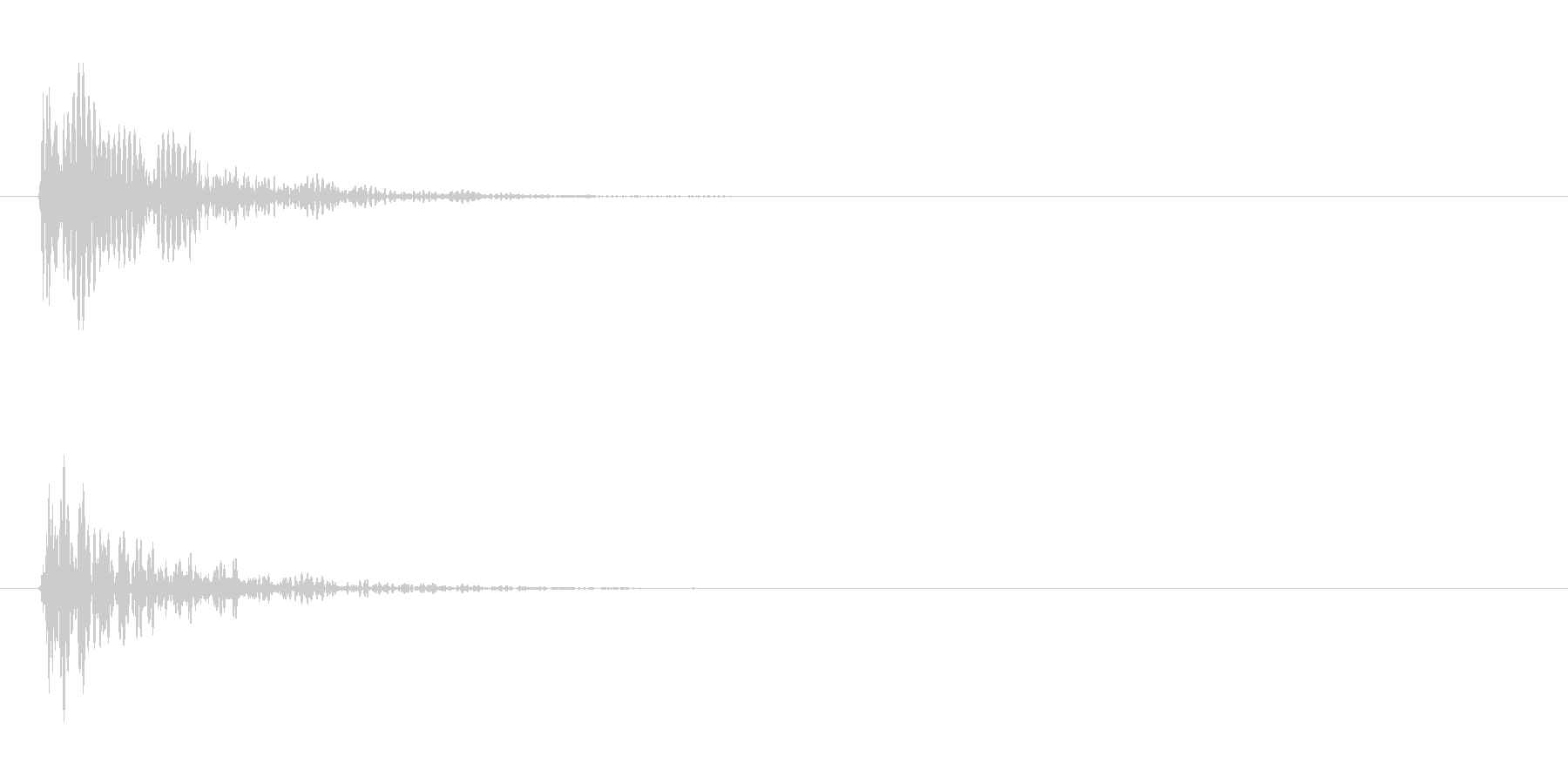 ドーン(金属系)の未再生の波形