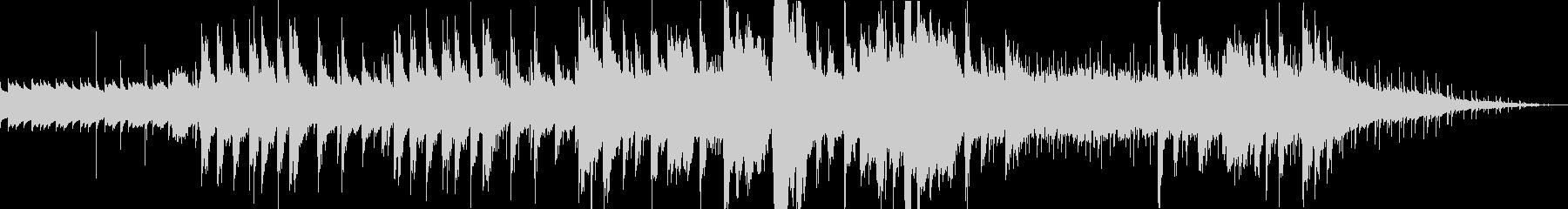 オルゴール中心のホラーBGMの未再生の波形