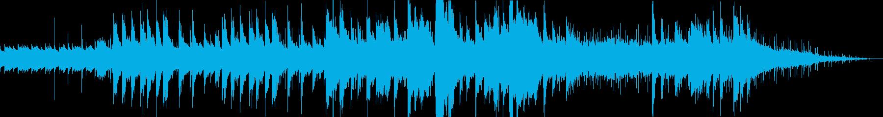 オルゴール中心のホラーBGMの再生済みの波形