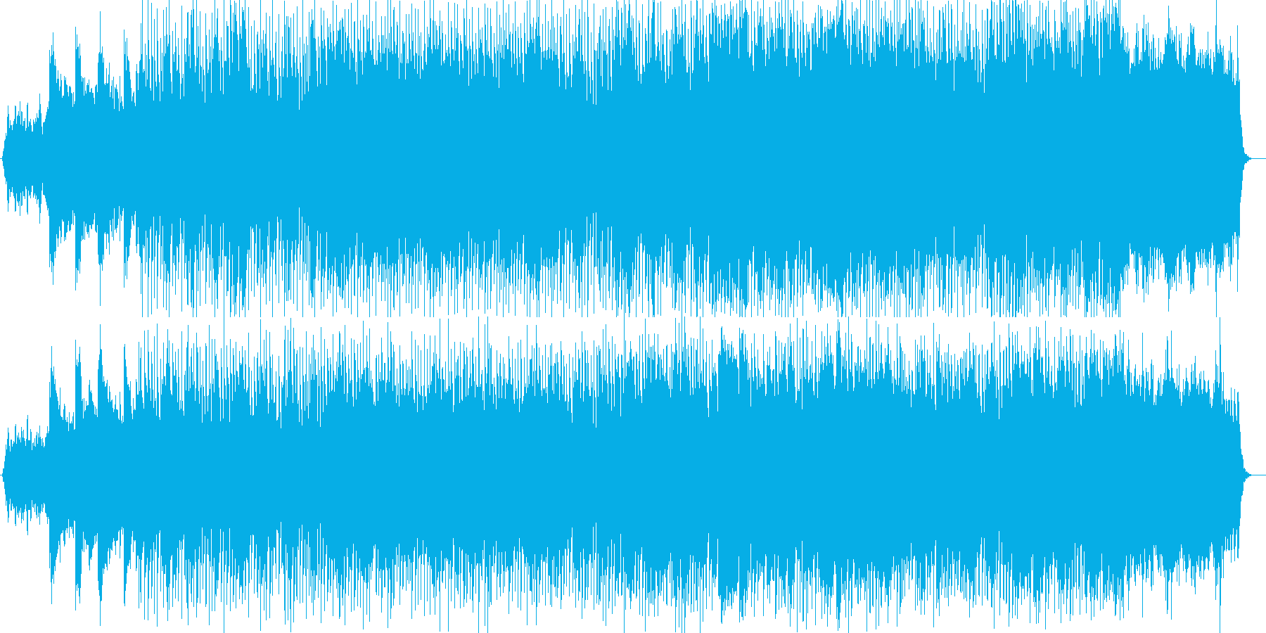 オープニングにぴったりなシンセアンセムの再生済みの波形