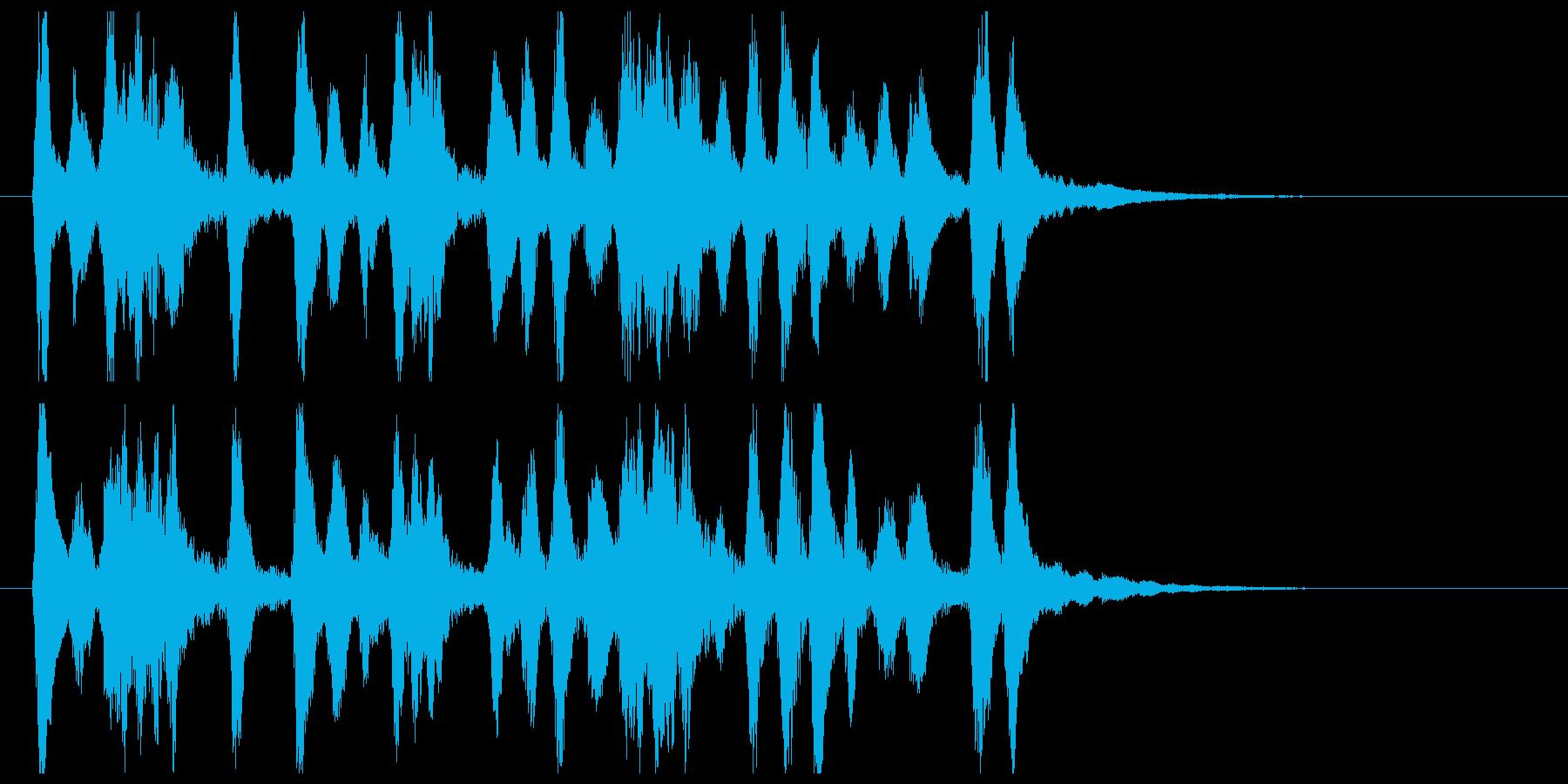 ストリングスを使用した高貴なイメージ音源の再生済みの波形