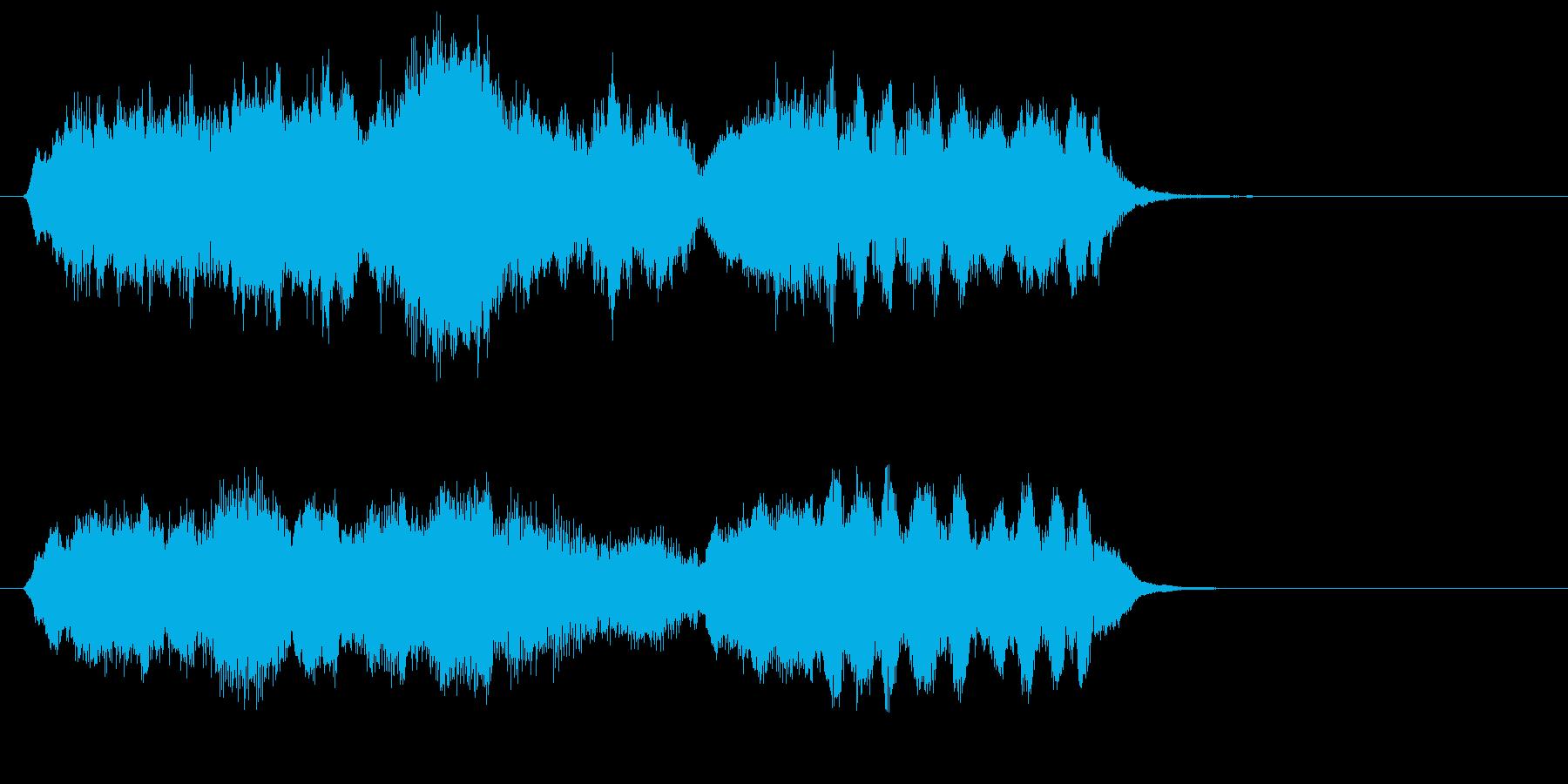 管楽器とストリングスが奏でる曲の再生済みの波形