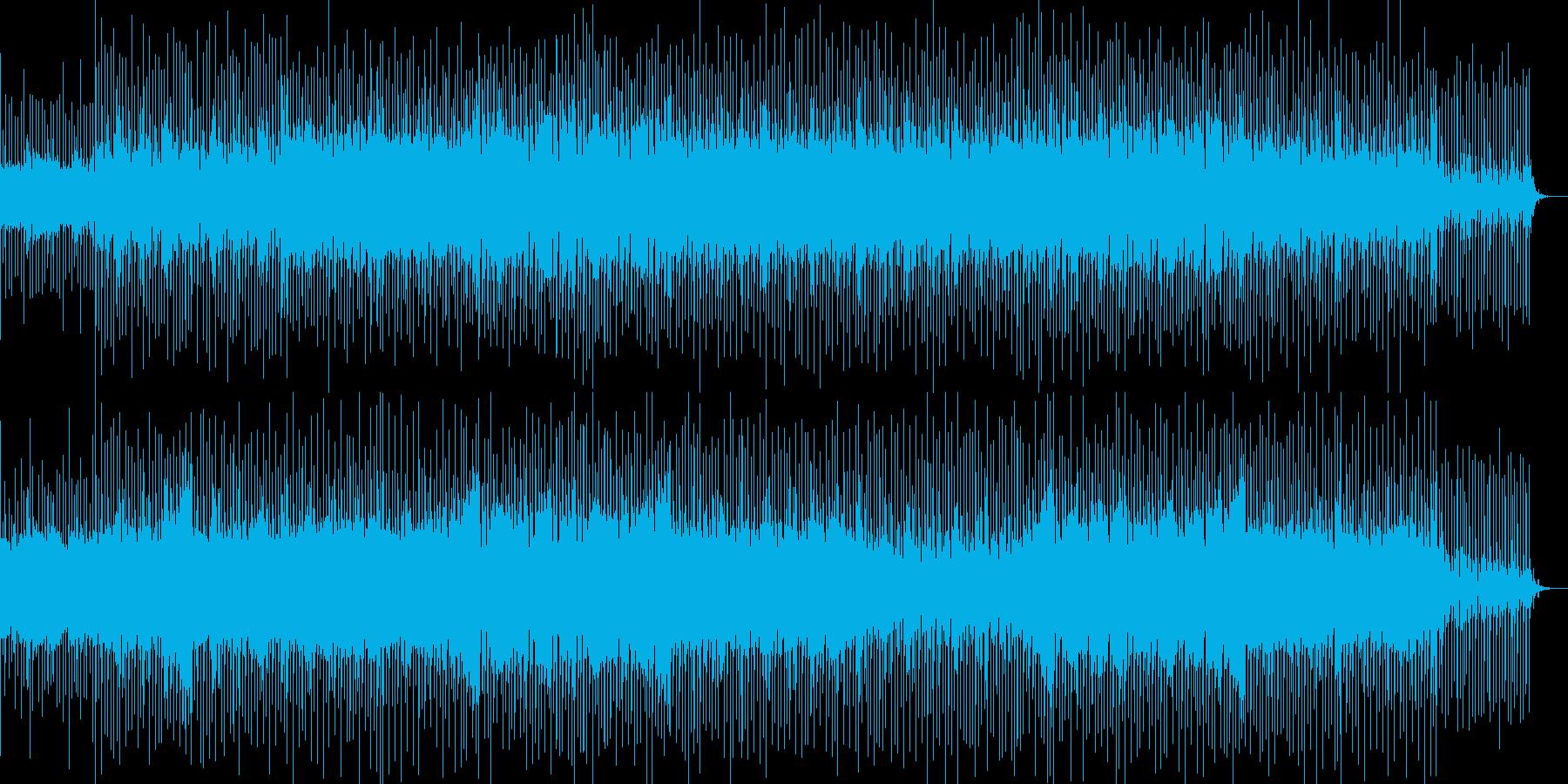 爽やかな風が吹き抜けるようなBGMの再生済みの波形