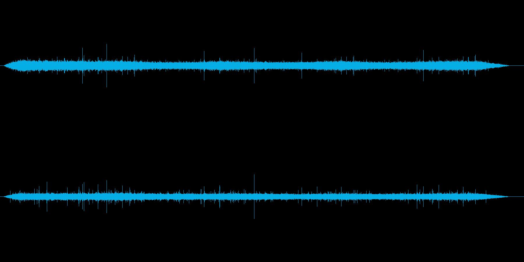 雨の音(ザー)、土砂降りの再生済みの波形