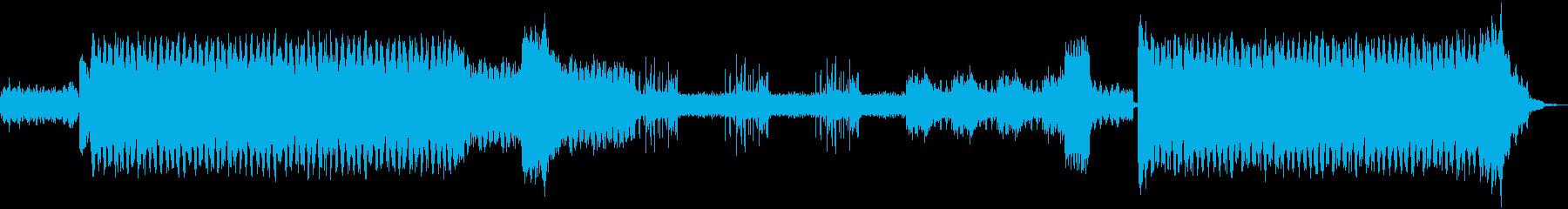 ノリの良いダンスミュージックの再生済みの波形