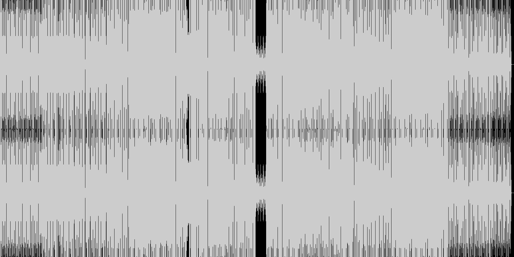 エレクトロとハウスの融合の未再生の波形