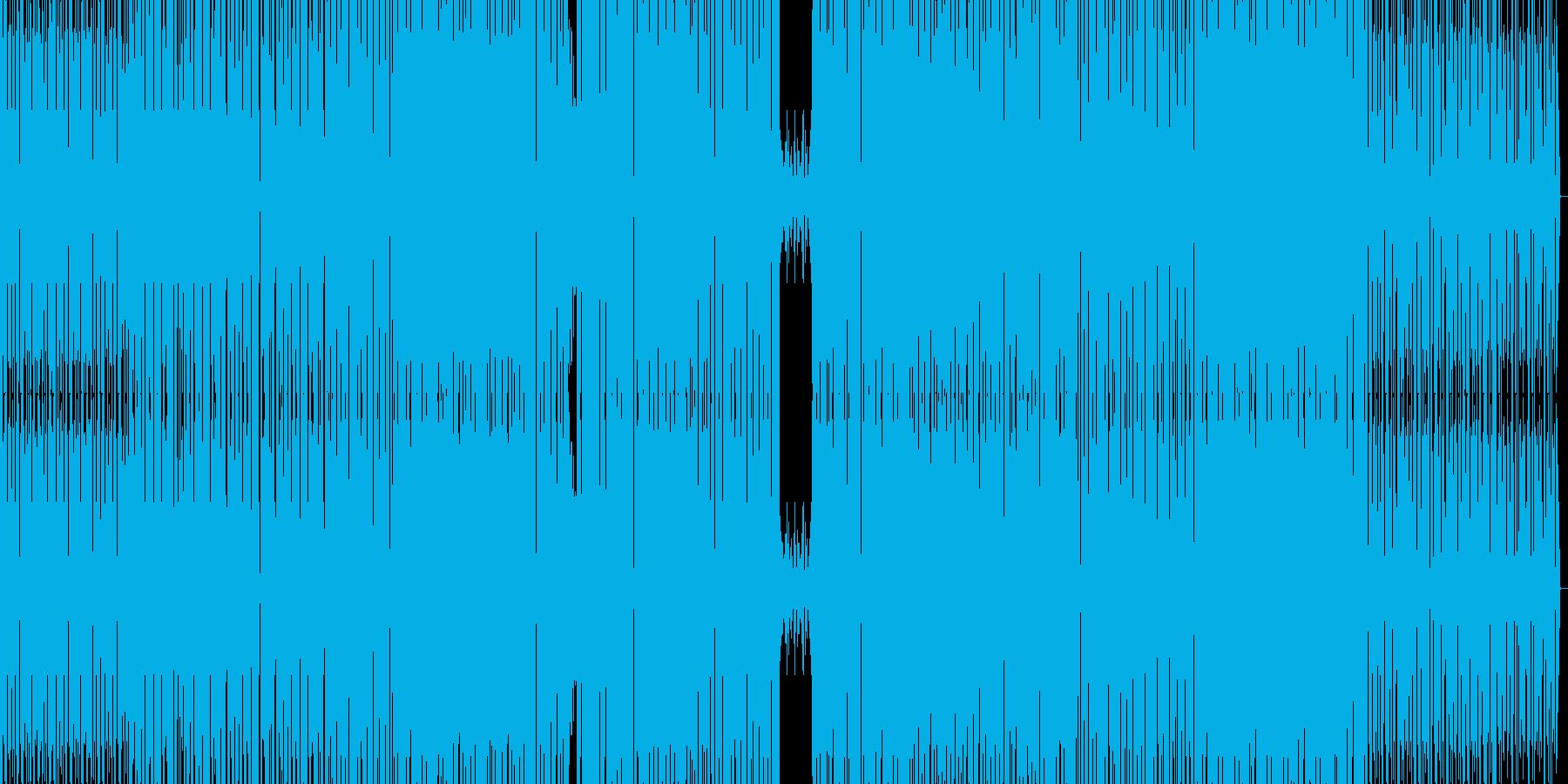 エレクトロとハウスの融合の再生済みの波形