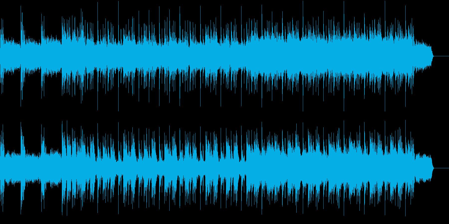 重低音なギターでヘヴィーなロック調 の再生済みの波形