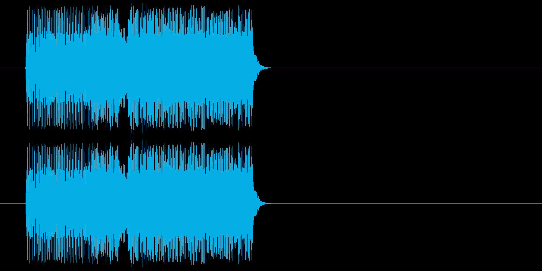 昭和アニメ系 ポチッとボタンを押す01の再生済みの波形