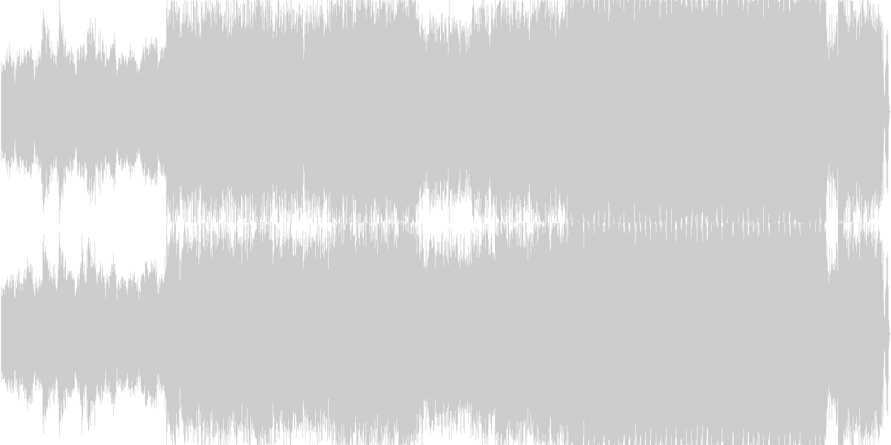 壮大でスリリングなBGMの未再生の波形