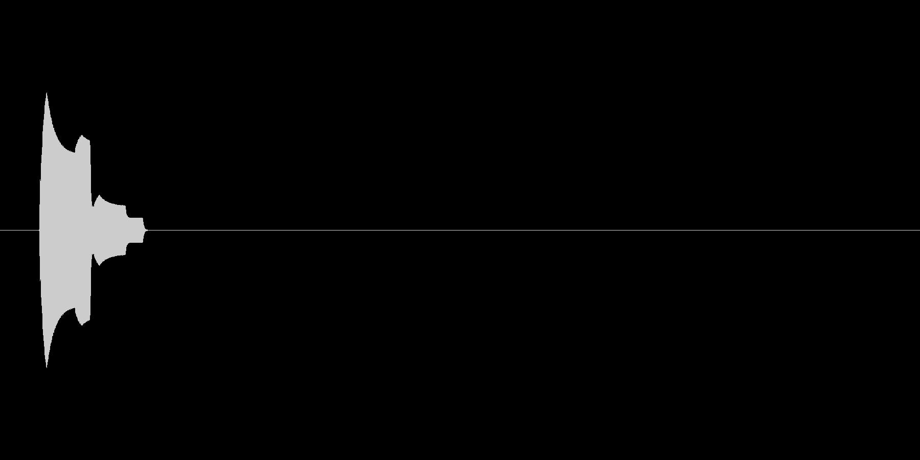 シンプルな選択音(ピッ、UI・システム)の未再生の波形