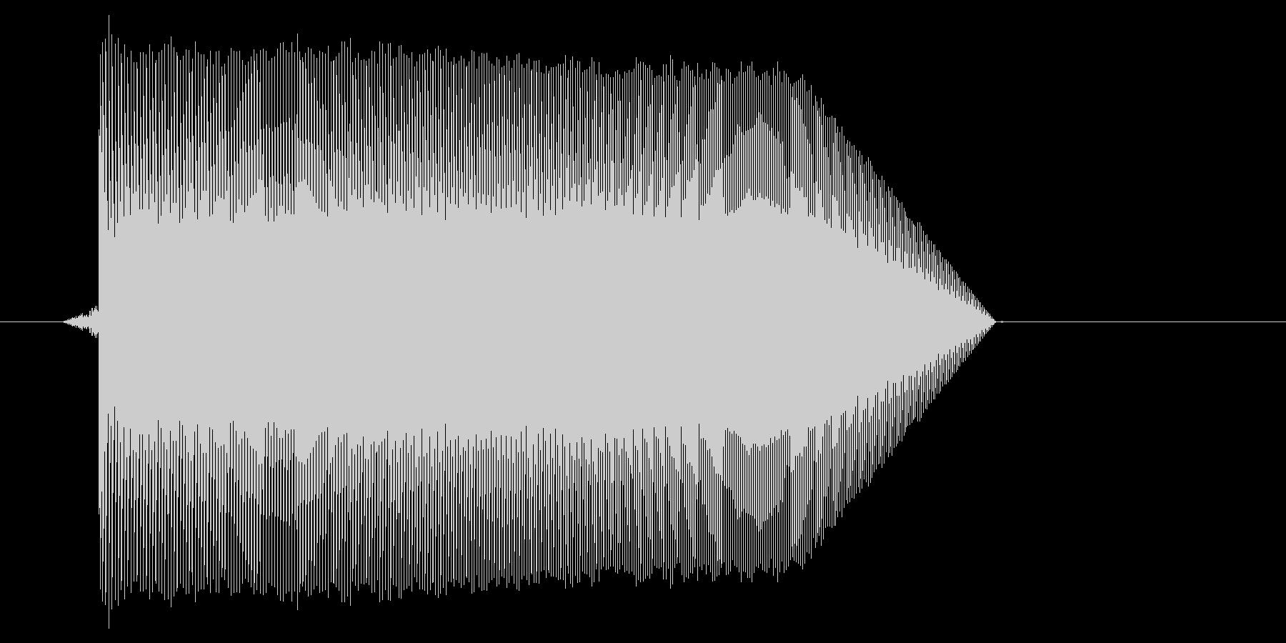 ゲーム(ファミコン風)ジャンプ音_015の未再生の波形
