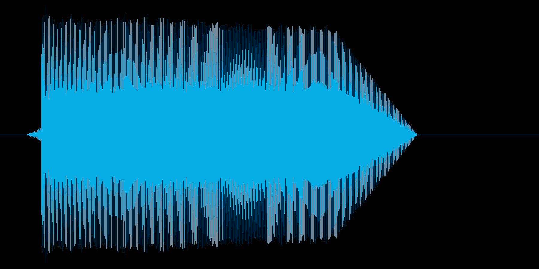 ゲーム(ファミコン風)ジャンプ音_015の再生済みの波形