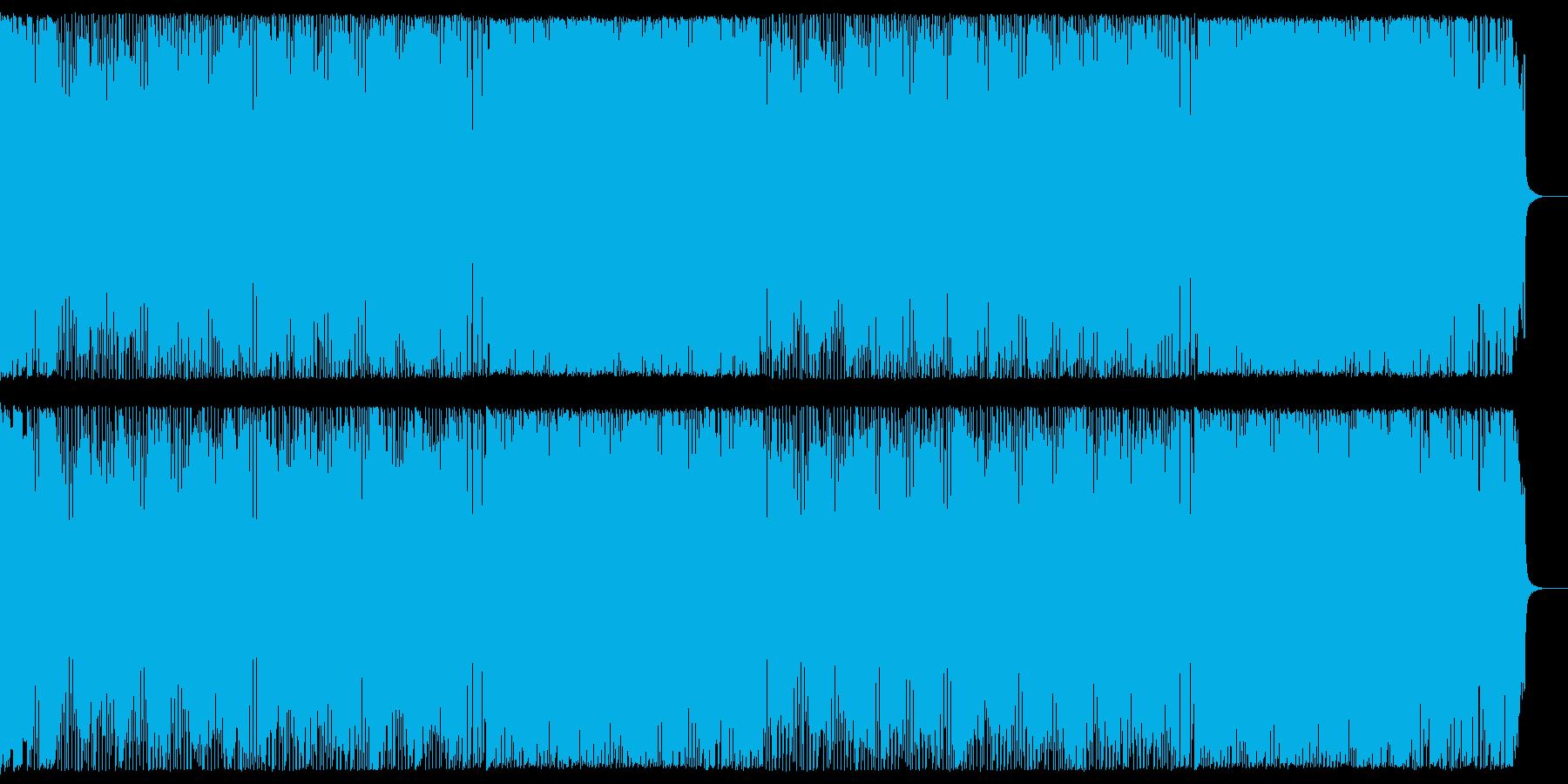 イベントのオープニングに爽やかな4つ打ちの再生済みの波形