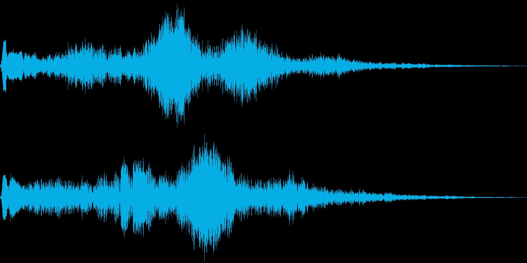 お化け・幽霊が出る時のヒュードロドロですの再生済みの波形