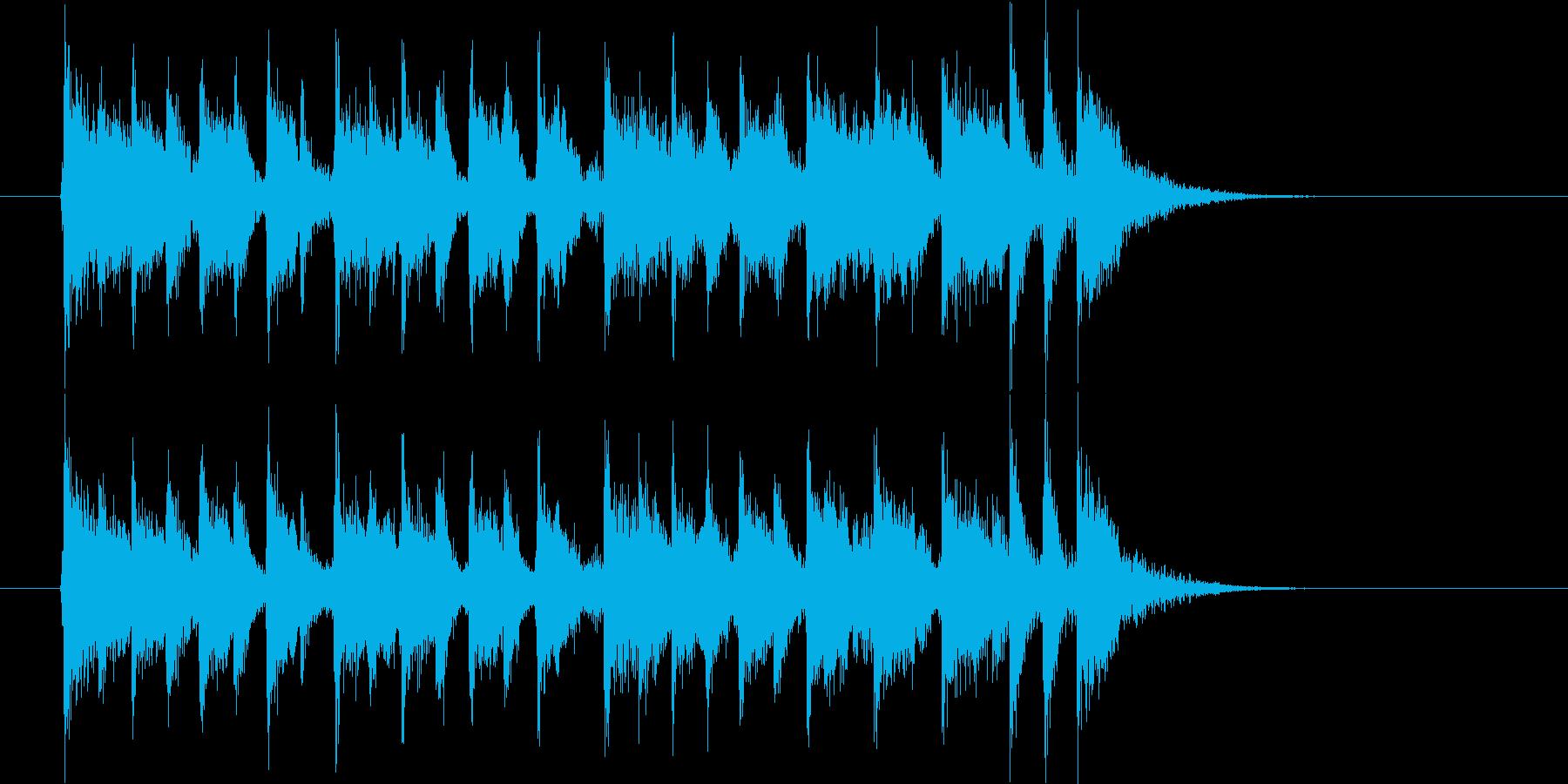 楽しくファンタジーなシンセサウンド短めの再生済みの波形