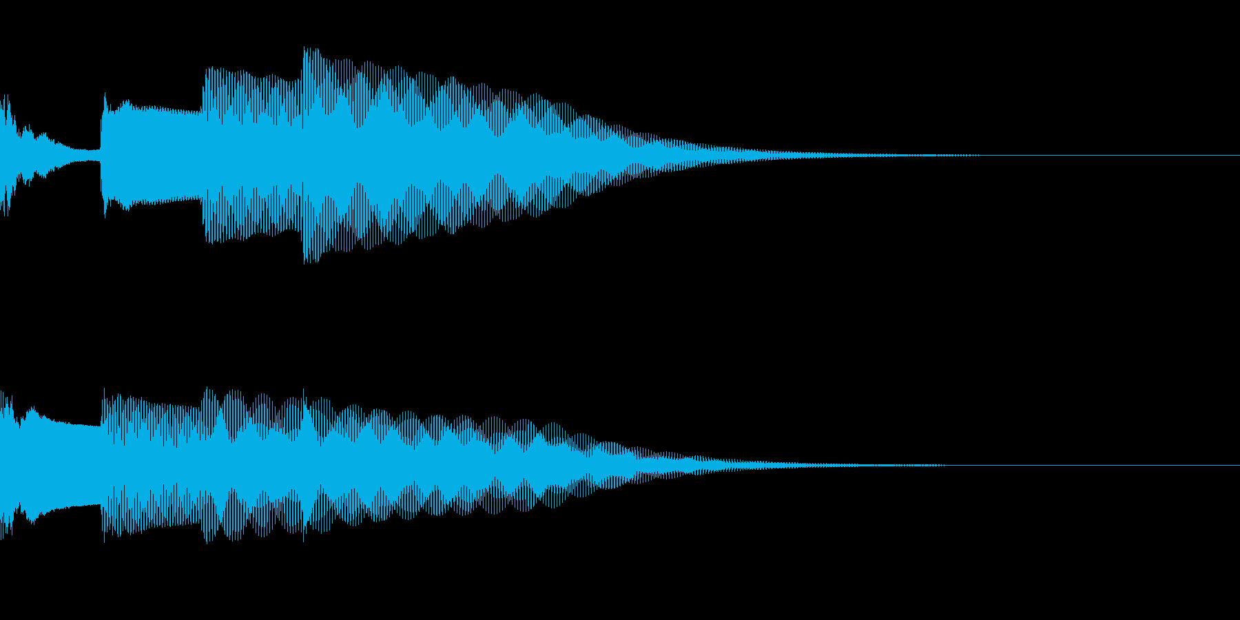 チャイム〜ピンポンパンポーン(上行4秒)の再生済みの波形