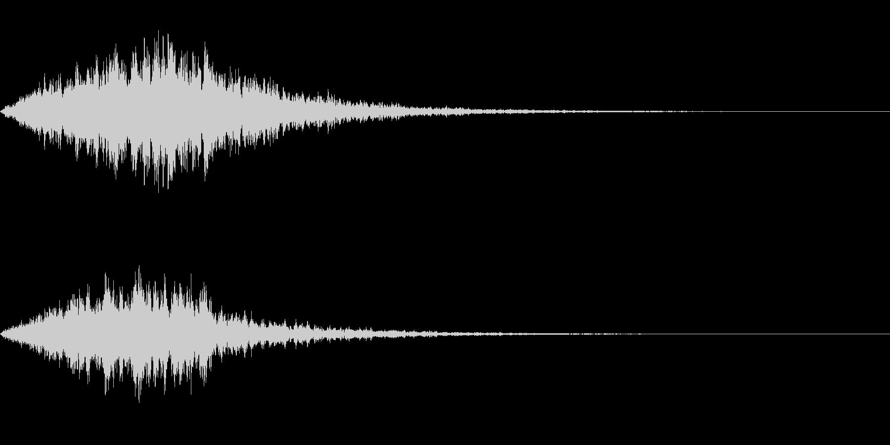 恐怖音04の未再生の波形