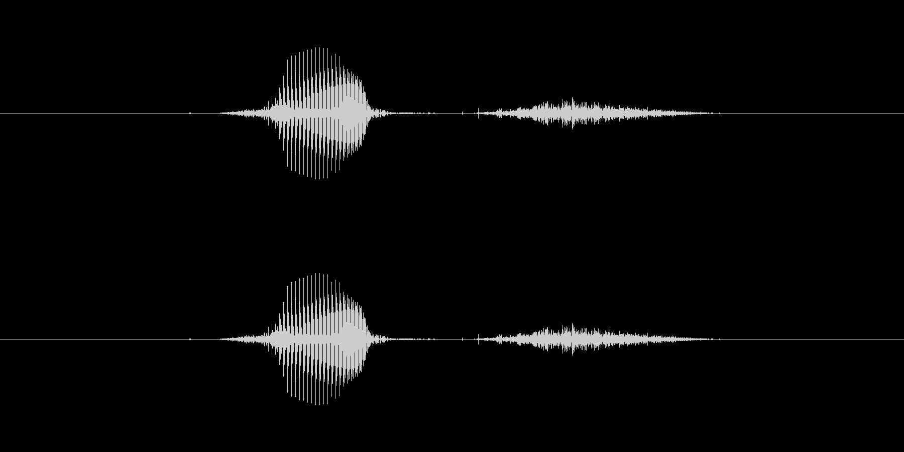 【数字】8(はち)の未再生の波形