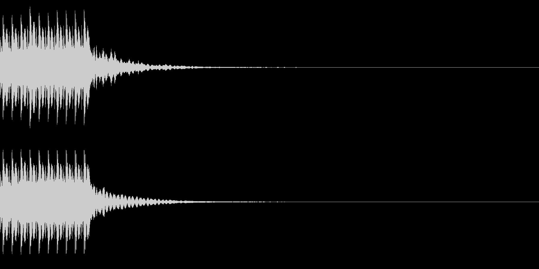 コイン10枚獲得 ゲット チャリンの未再生の波形