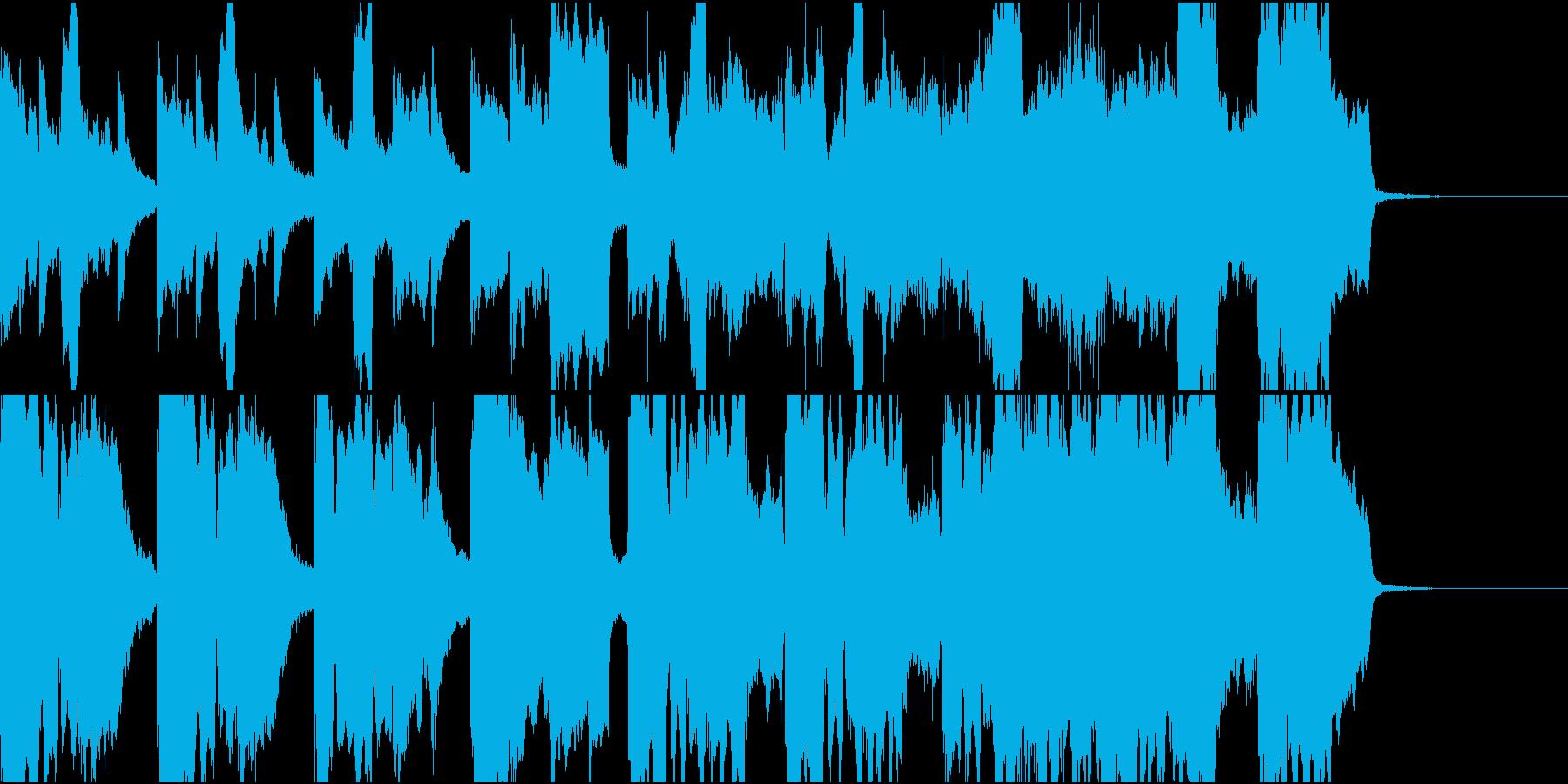 歩いている風景に流れるBGMの再生済みの波形