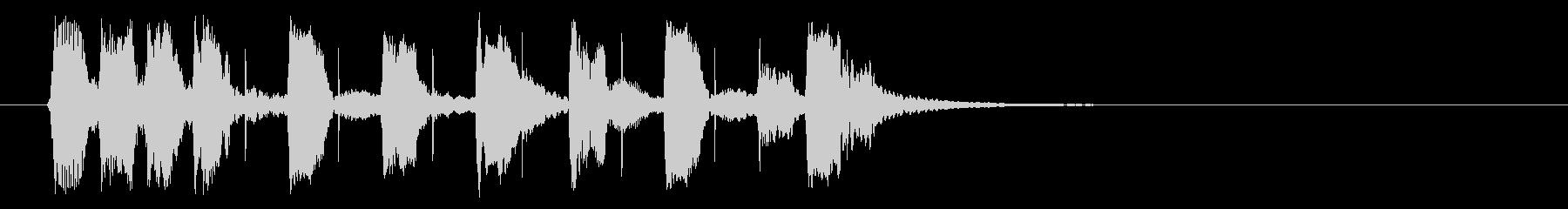 ベースの響きがかっこいいBGMの未再生の波形