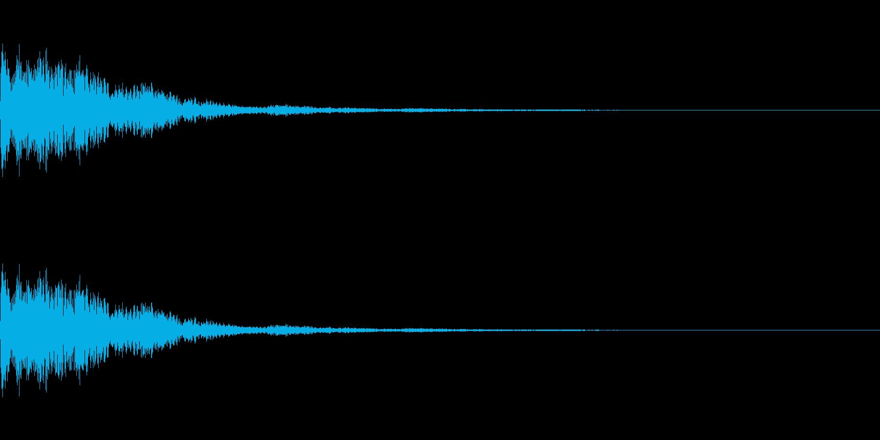 金属質なクリック音の再生済みの波形
